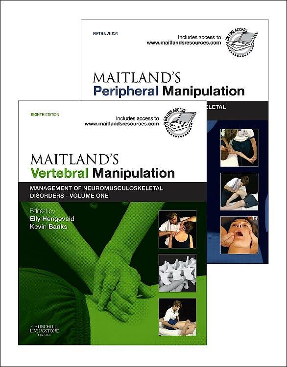 Portada del libro 9780702040689 Maitland's Vertebral Manipulation (8ed) + Maitland's Peripheral Manipulation (5ed). Management of Neuromusculoskeletal Disorders, 2 Vols.