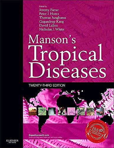 Portada del libro 9780702051012 Manson's Tropical Diseases (Online and Print)