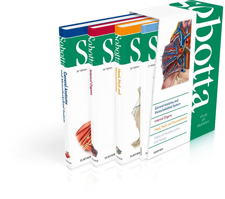 Portada del libro 9780702052682 Sobotta Atlas of Human Anatomy, 3 Vols. (English/Latin)