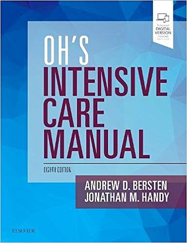 Portada del libro 9780702072215 Oh's Intensive Care Manual