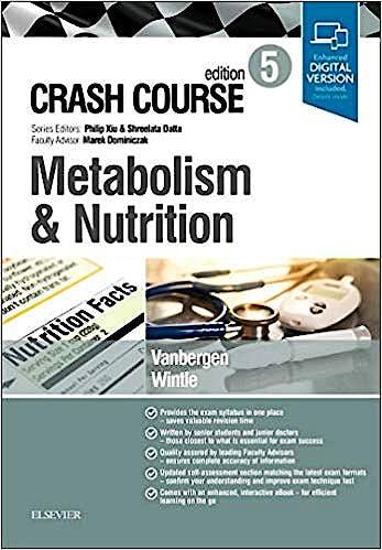 Portada del libro 9780702073410 Crash Course. Metabolism and Nutrition (Print and Online)
