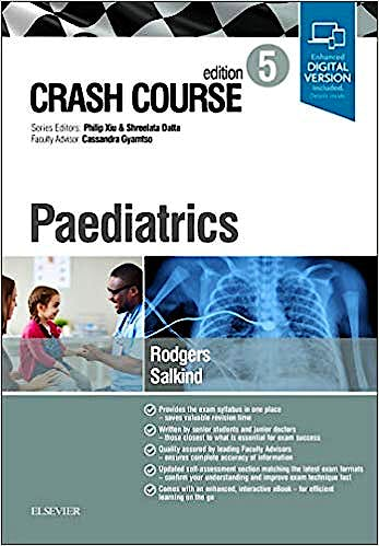 Portada del libro 9780702073694 Crash Course. Paediatrics (Print and Online)
