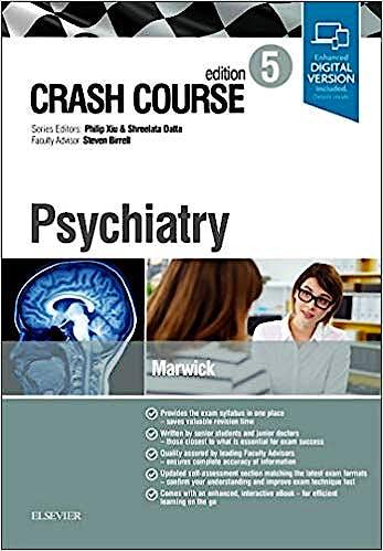 Portada del libro 9780702073830 Crash Course. Psychiatry (Print and Online)