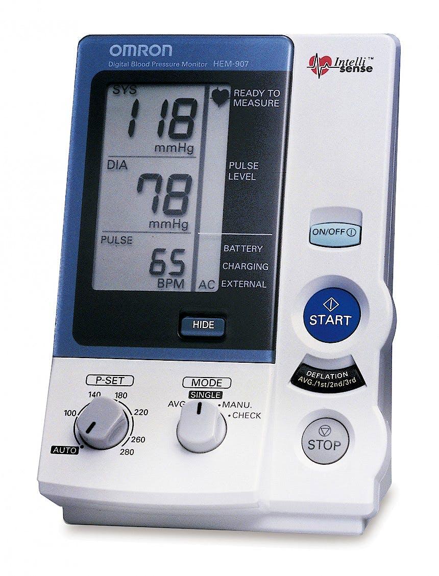Monitor de Presion Arterial Digital para Profesionales Hem 907