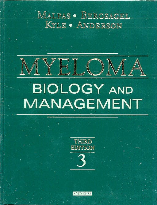 Portada del libro 9780721600062 Myeloma. Biology and Management