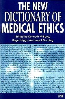 Portada del libro 9780727910011 The New Dictionary of Medical Ethics