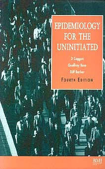 Portada del libro 9780727911025 Epidemiology for the Uninitiated