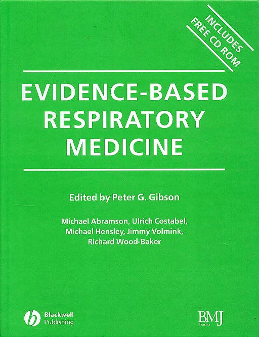 Portada del libro 9780727916051 Evidence-Based Respiratory Medicine + Cd Rom