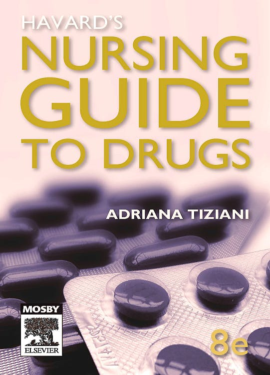 Portada del libro 9780729539135 Havard's Nursing Guide to Drugs