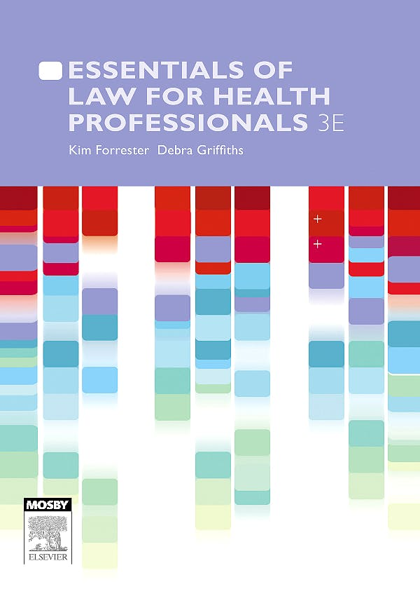 Portada del libro 9780729539159 Essentials of Law for Health Professionals