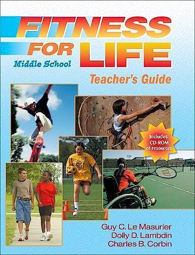 Portada del libro 9780736068284 Fitness for Life Middle School Teacher's Guide