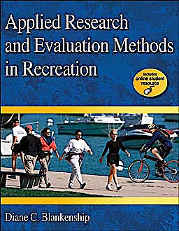 Portada del libro 9780736077194 Applied Research and Evaluation Methods in Recreation + Online Resource