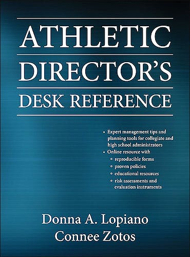 Portada del libro 9780736082815 Athletic Director's Desk Reference + Web Resource