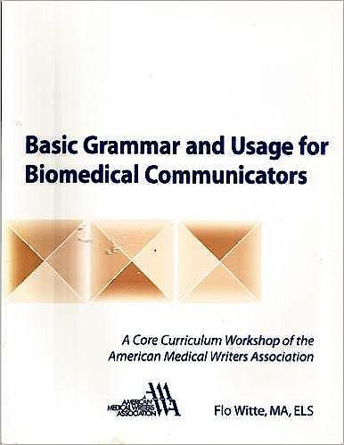 Portada del libro 9780757502873 Basic Grammar and Useage for Biomedical Communicators