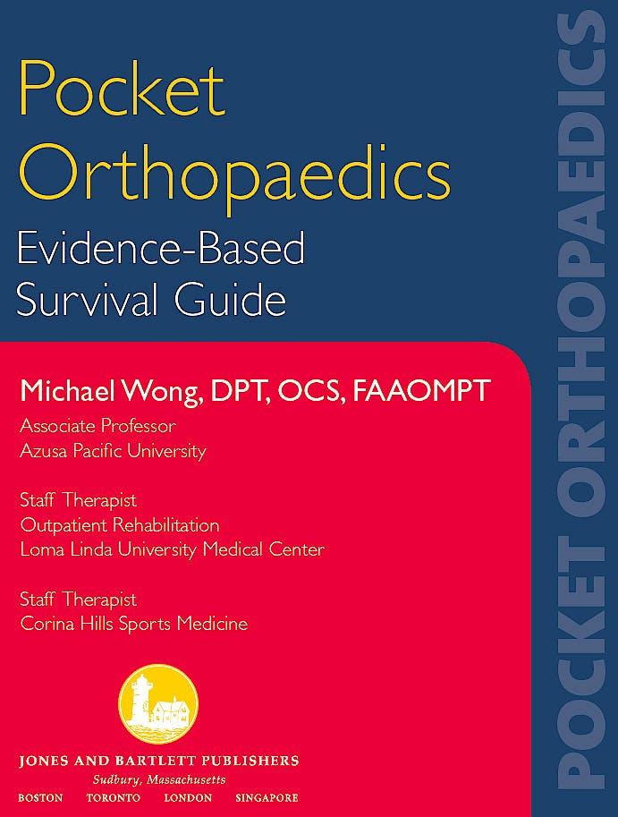 Portada del libro 9780763750756 Pocket Orthopaedics. Evidence-Based Survival Guide