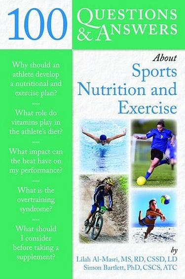 Portada del libro 9780763778866 100 Questions & Answers about Sports Nutrition and Exercise