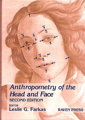 Portada del libro 9780781701594 Anthropometry of the Head and Face