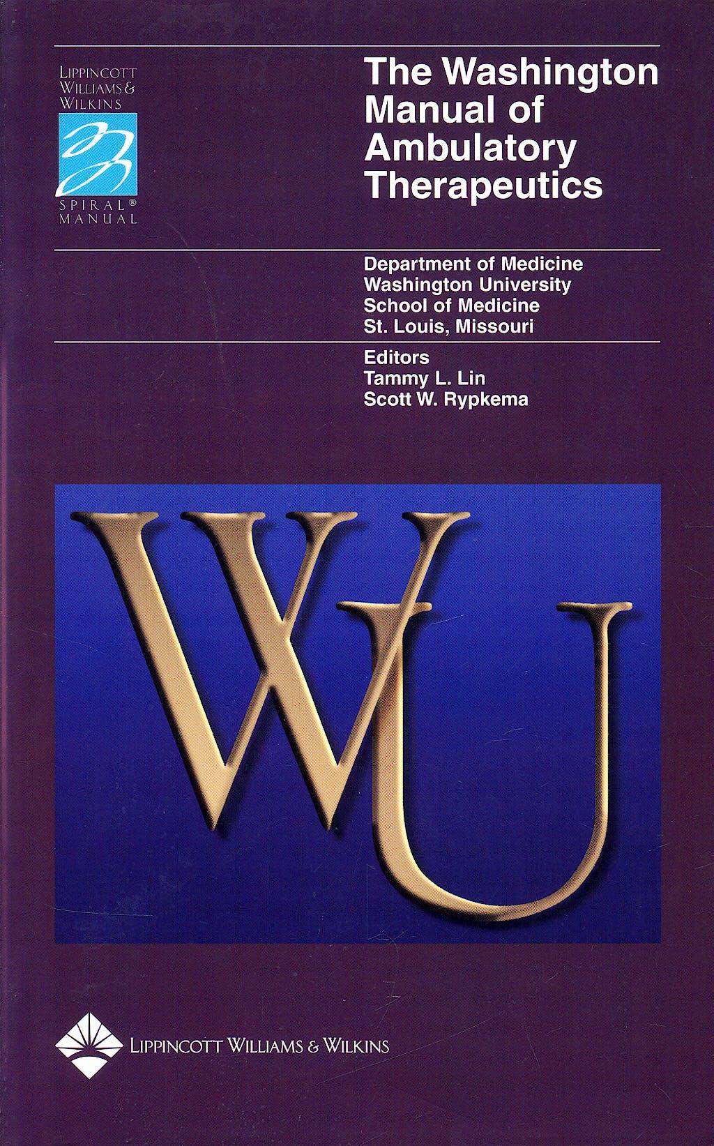 Portada del libro 9780781735704 Washington Manual of Ambulatory Therapeutics