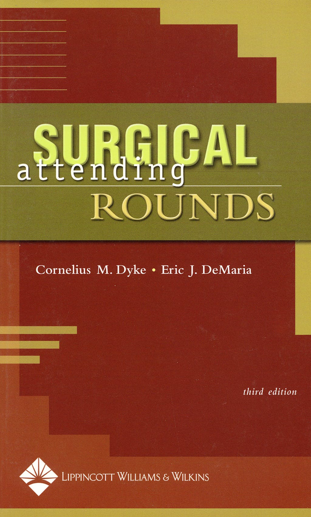 Portada del libro 9780781750462 Surgical Attending Rounds
