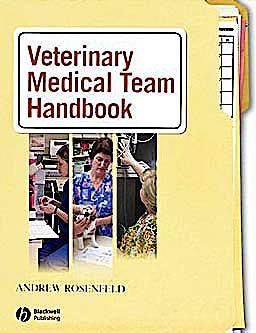 Portada del libro 9780781757591 Veterinary Medical Team Handbook
