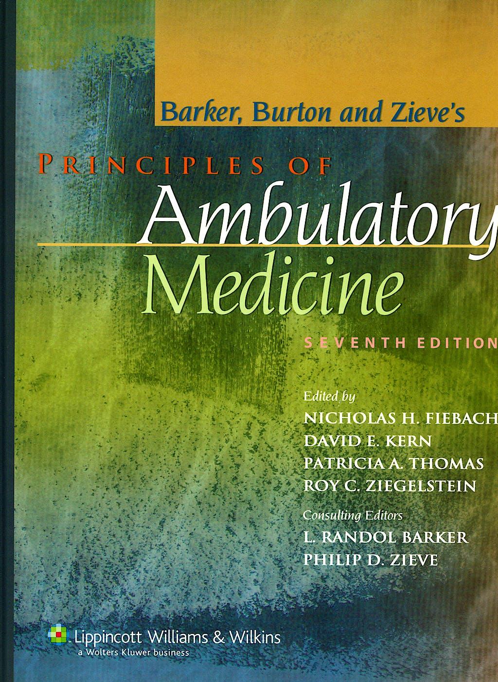 Portada del libro 9780781762274 Principles of Ambulatory Medicine