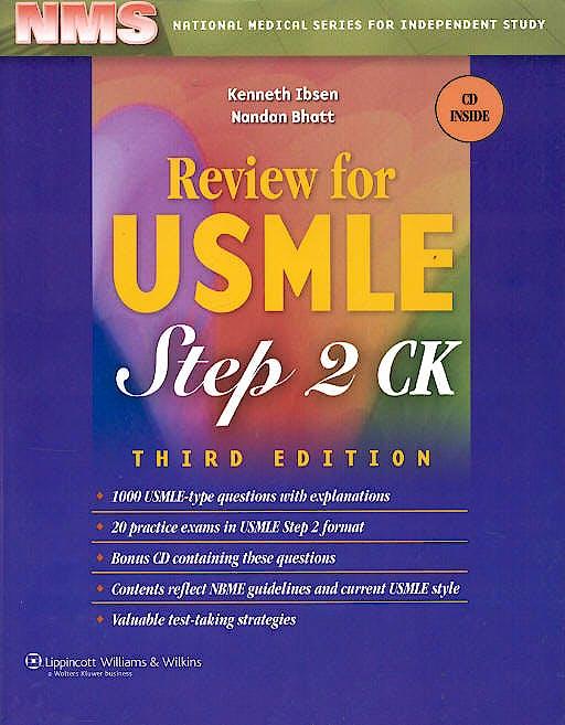 Portada del libro 9780781765220 Review Usmle Usa Medical Licensing Examination Step 2 Ck + Cd-Rom