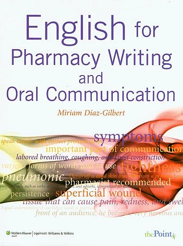 Portada del libro 9780781774321 English for Pharmacy Writing and Oral Communication