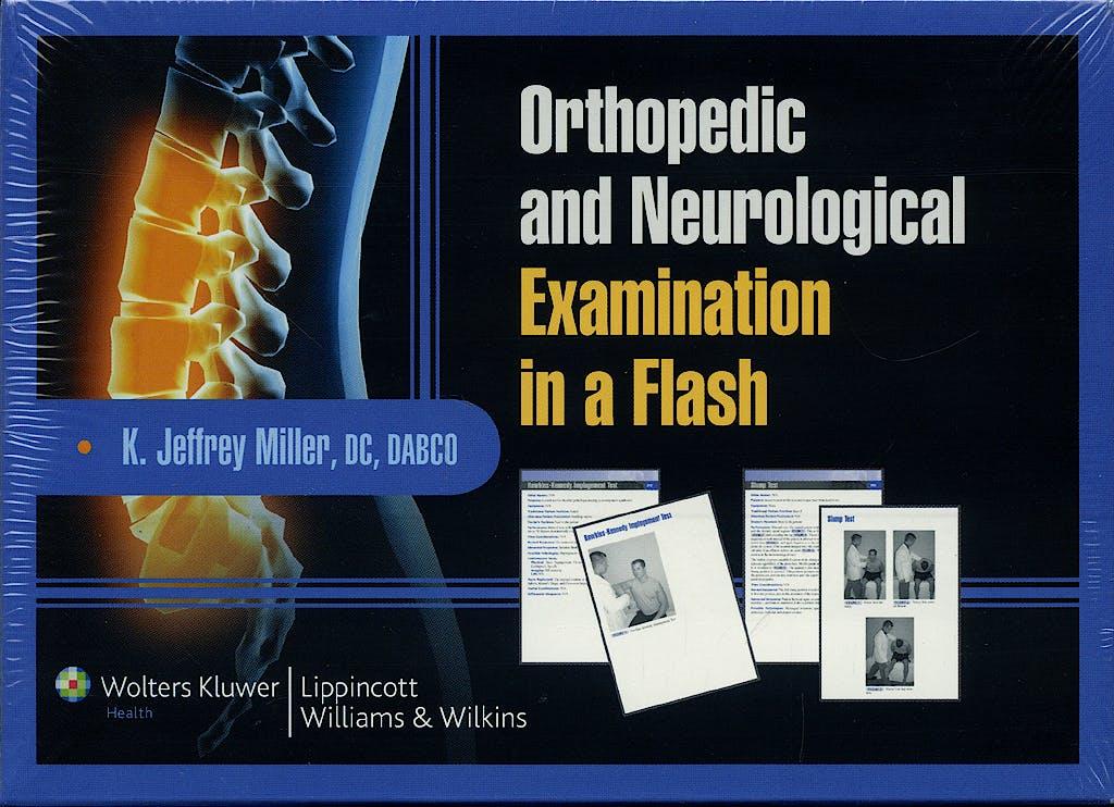 Portada del libro 9780781779180 Orthopedic and Neurological Examination in a Flash