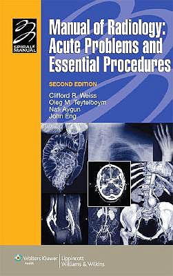 Portada del libro 9780781799645 Manual of Radiology