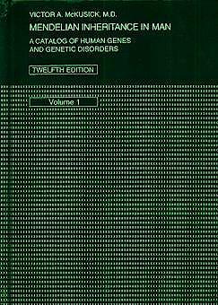 Portada del libro 9780801857423 Mendelian Inheritance in Man 3 Vols.