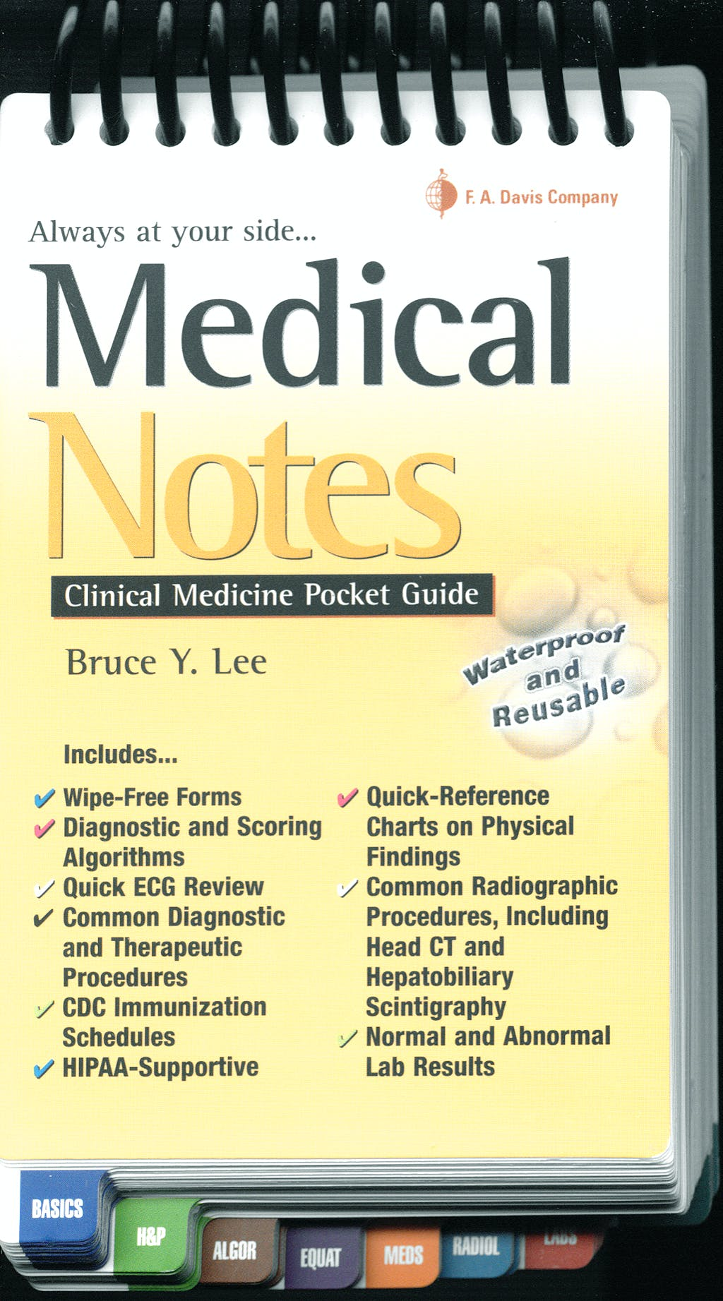 Portada del libro 9780803617469 Medical Notes: Clinical Medicine Pocket Guide