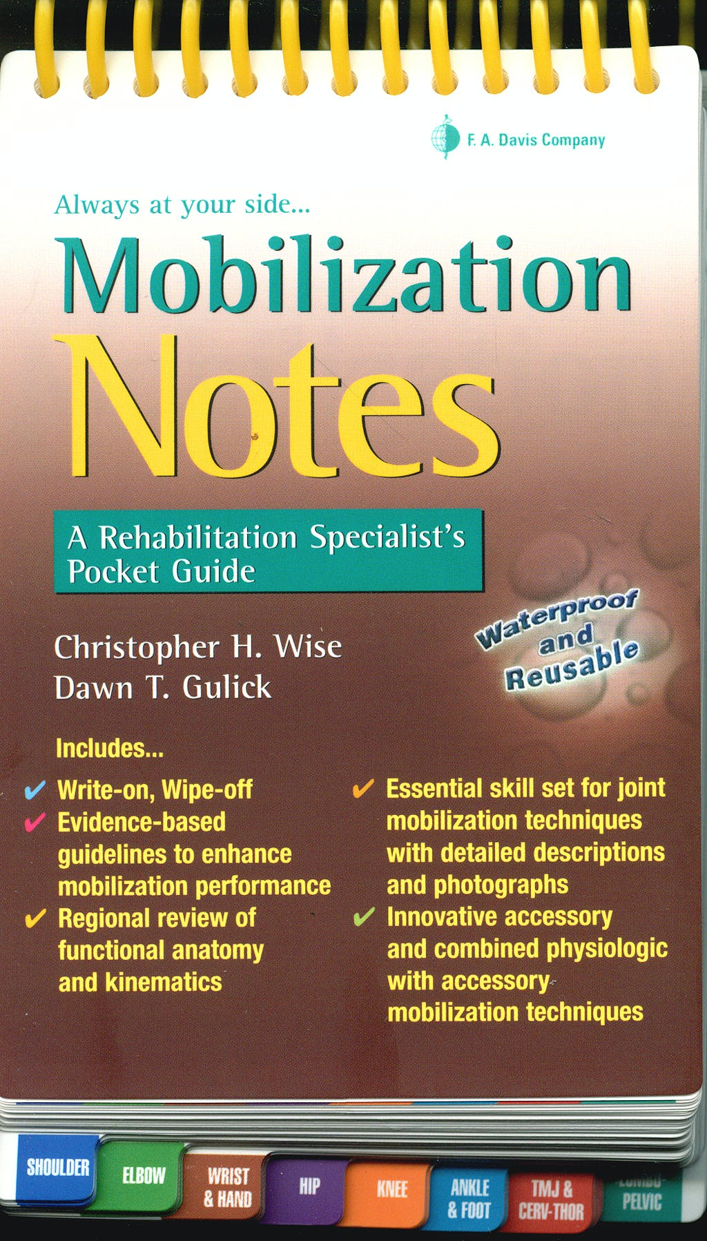 Portada del libro 9780803620964 Mobilization Notes. a Rehabilitation Specialist's Pocket Guide
