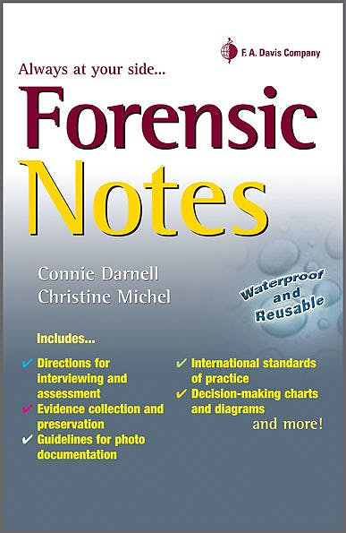Portada del libro 9780803626522 Forensic Notes