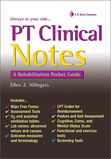 Portada del libro 9780803627604 Pt Clinical Notes: A Rehabilitation Pocket Guide