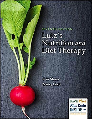 Portada del libro 9780803668140 Lutz's Nutrition and Diet Therapy