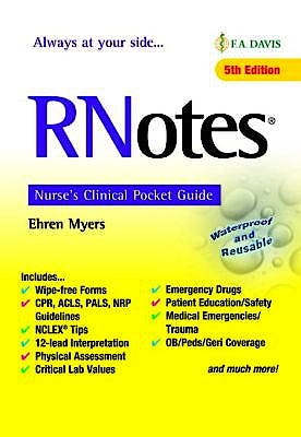 Portada del libro 9780803669086 RNotes Nurse's Clinical Pocket Guide