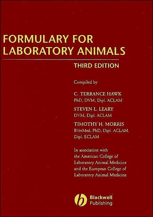 Portada del libro 9780813810485 Formulary for Laboratory Animals