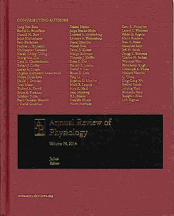 Portada del libro 9780824303761 Annual Review of Physiology, Vol. 76