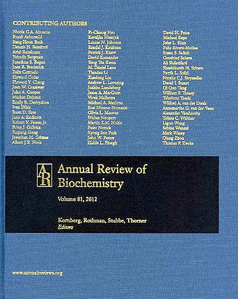 Portada del libro 9780824308810 Annual Review of Biochemistry, Vol. 81