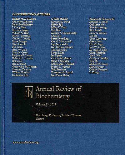 Portada del libro 9780824308834 Annual Review of Biochemistry, Vol. 83