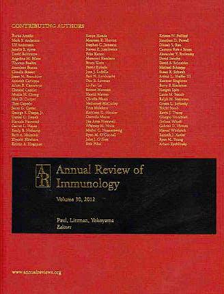 Portada del libro 9780824330309 Annual Review of Immunology, Vol. 30
