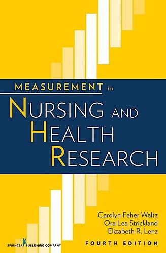 Portada del libro 9780826105073 Measurement in Nursing and Health Research
