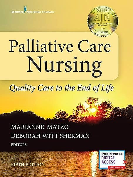 Portada del libro 9780826127129 Palliative Care Nursing. Quality Care to the End of Life