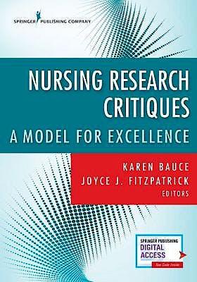 Portada del libro 9780826175090 Nursing Research Critique. A Guide to Excellence