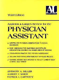 Portada del libro 9780838502792 Appleton & Lange's Review for Physician Assistant