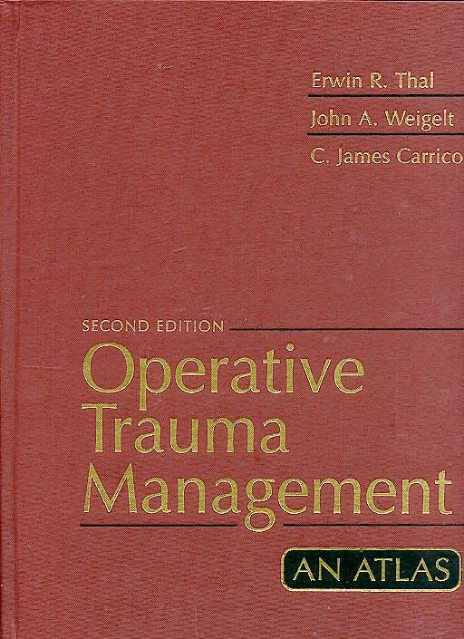 Portada del libro 9780838573884 Operative Trauma Management. an Atlas