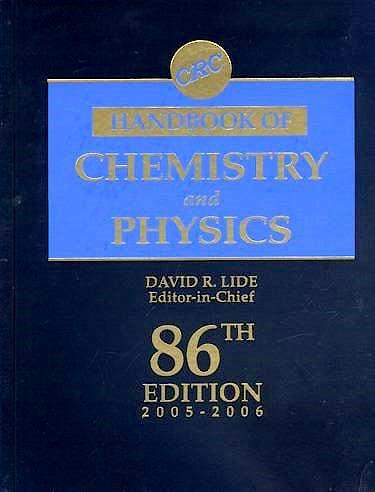 Portada del libro 9780849304866 Handbook of Chemistry and Physics