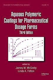 Portada del libro 9780849387890 Aqueous Polymeric Coatings for Pharmaceutical Dosage Forms