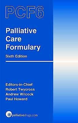 Portada del libro 9780857113481 Palliative Care Formulary (PCF6)