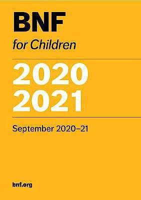 Portada del libro 9780857113726 British National Formulary for Children 2020-2021